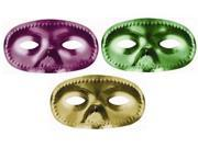 Amscan 390938 Mask Half Metallic Purple, Green and Gold - Pack of 144 9SIA00Y43C4424