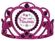 Image of Amscan 250461 Purple & Teal Pastel Birthday Princess Tiara - Pack of 6