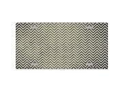 Smart Blonde LP-7148 Gold White Small Chevron Print Oil Rubbed Metal Novelty License Plate