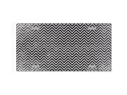 Smart Blonde LP-7142 Black White Small Chevron Print Oil Rubbed Metal Novelty License Plate