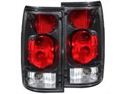 ANZO 211131 Toyota Pickup 89-95 Tail Lights G2 Carbon