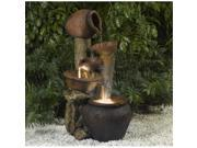 Fountain Cellar FCL031 Pentole Pot Outdoor-Indoor Fountain with Illumination