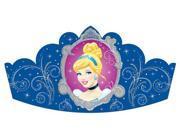 Amscan 259664 Cinderella Paper Tiaras - Pack of 48 9SIA00Y43C3696