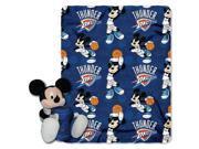 Northwest NOR-1COB038000226RET Oklahoma City Thunder NBA Mickey Mouse with Throw Combo
