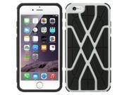 DreamWireless TCAIP6LSWBKWT Apple iPhone 6 Plus Hybrid Case Black Tpu Plus Spider Web - White 9SIA00Y43G3110