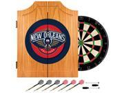 New Orleans Pelicans NBA Wood Dart Cabinet Set
