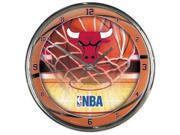 Chicago Bulls Round Chrome Wall Clock