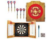 Fire Fighter Dart Cabinet Includes Darts and Board