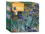 Euro Graphics 8104-4364 Irises By Vincent Van Gogh Mini Puzzle