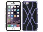 DreamWireless TCAIP6SWBKPP Apple iPhone 6 Hybrid Case Black TPU Plus Spider Web PC - Purple, 4.7 in. 9SIA00Y43G2723