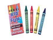 US Toy Company Mini Crayons/4-Bx (3 Packs Of 144) 9SIA00Y43G6090
