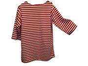 Alexander Costume 22 228 R Striped Shirt Red Large