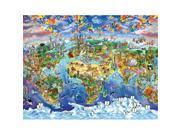 Masterpieces 11542 World Map Puzzle - 60 Piece 9SIA00Y43D8342