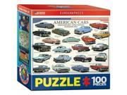 Euro Graphics 8104-3870 American Cars Of The Fifties Mini Puzzle