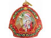 G.Debrekht 6102841 General Holiday Santas List Ornament 4.5 in.