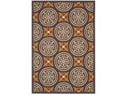 Safavieh VER030-0325-4 4 x 5 ft. 7 in. Small Rectangle Indoor & Outdoor Veranda Chocolate & Terracotta Accent Rug