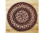 Earth Rugs 46-415 Round Miniature Swatch, Mulberry, Ivory and Brownstone