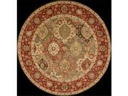 Nourison 67325 Living Treasures Area Rug Collection Multi Color 5 ft 10 in. x 5 ft 10 in. Round