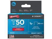 Arrow Fastener 506M1 .37 in. Monel Staples, T50, Pack of 1,000