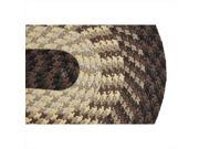 Image of Better Trends BRAL29CH Alpine Braided Rug, Chocolate - 2 in.