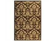 Safavieh CY3416 3409 6 6 ft. 7 in. x 9 ft. 6 in. Medium Rectangle Indoor Outdoor Courtyard Chocolate and Natural Machine Made Rug