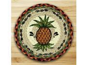 Earth Rugs 80-375P Round Miniature Swatch, Pineapple, printed