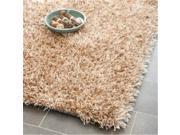 Safavieh SG531-1313-3 3 x 5 ft. Small Rectangle Paris Shag & Flokati Beige & Beige Hand Tufted Rug