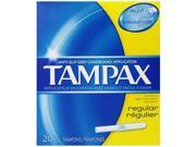 Tampax Regular Absorbency Tampons, 20 Count