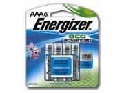 Eveready Battery XR92BP-6 AAA EcoAdvanced Battery, Pack 6