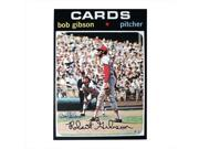 Topps Autographed Bob Gibson 1971 Topps Baseball Card Blowup 10 x 14 Reprint.