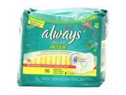 Always 16 Count Fresh Ultra Regular Wing Liners, Pack Of 12