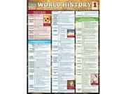 BarCharts 9781423221739 World History 1 Quickstudy Easel