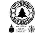 Technique Tuesday TT-A-MCTSE Technique Tuesday Clear Stamps 2 in. x 2.5 in.-Merry Christmas Tree Seal