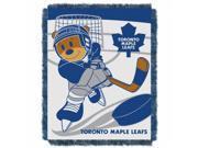 Northwest NOR-1NHL044010023RET 36 x 48 Toronto Maple Leafs NHL Triple Woven Jacquard Throw, Score Baby Series 9SIA00Y4510911