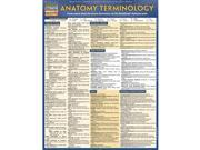 BarCharts 9781423216322 Anatomy Terminology Quickstudy Easel 9SIA00Y45M9474