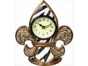 Manual Woodworkers and Weavers RMZSFC Zebra Stripe Fleur De Lis Decorative Clocks 5.5 X 6.5 X 1.25 in.
