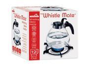 Image of Dura-Kleen 401 Glass Whistle Tea Kettle - 12 Cup