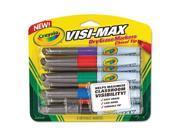 Crayola 988900 Dry Erase Marker Chisel Tip, Assorted Colors