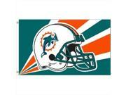 JTD Enterprises FLDOLPHINS Miami Dolphins Flag, 3 x 5 ft. 9SIA00Y45D4218