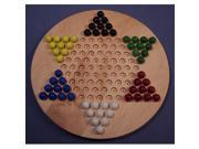 THE PUZZLE-MAN TOYS W-1931 Wooden Marble Game Board - Chinese Checkers  Oiled 18 in. Circle - Hard Maple 9SIA00Y5146907
