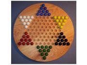 THE PUZZLE-MAN TOYS W-1925 Wooden Marble Game Board - Chinese Checkers  Oiled 18 in. Circle - Red Oak 9SIA00Y5147128