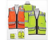 3asafety C2100 XL Orange Heavy Duty Surveyor Vest Extra Large