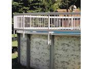 Gli Pool Products 30 BKIT WHT Protech A Pool Above Ground Fence 3 Section Base Kit