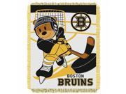 Northwest NOR-1NHL044010001RET 36 x 48 Boston Bruins NHL Triple Woven Jacquard Throw, Score Baby Series 9SIA00Y51F7713