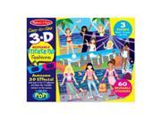 Melissa And Doug 9374 Easy-to-See 3-D Reusable Sticker - Fashions 9SIA00Y51R6709