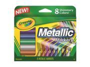 Image of Crayola Llc BIN588628 Crayola Metallic Markers 8 Colors