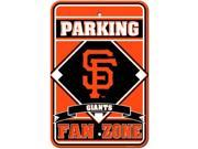 Fremont Die 62226 San Francisco Giants - Plastic Parking Sign 9SIA00Y5121869