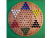 Charlies Woodshop W 1925alt. 2 Wooden Marble Game Board Red Oak with 42 Birch Inlaid Spots