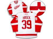 AJ Sports World HASD10600A Dominik Hasek Detroit Red Wings Autographed White Reebok Premier Hockey Jersey 9SIV06W69U6569