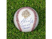 AJ Sports World MORA32112A Kendrys Morales Autographed Official 2015 World Series Baseball with 2015 WS Note 9SIA00Y5TR7422